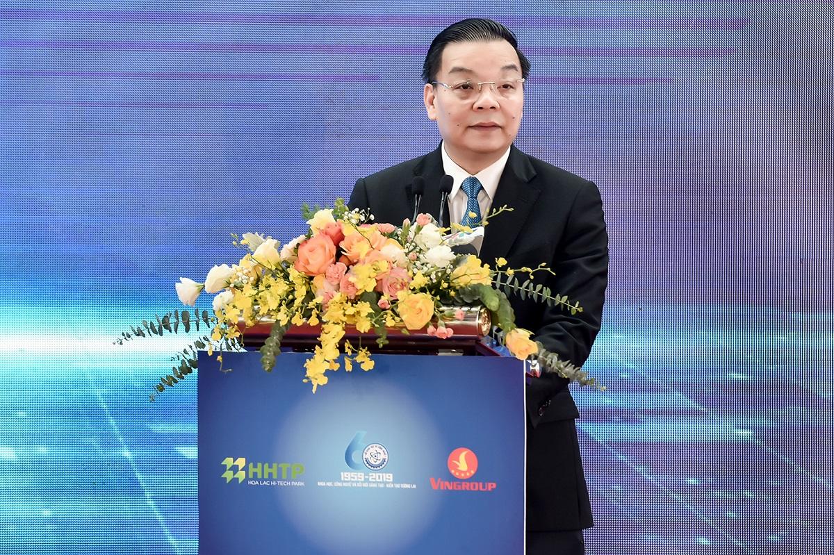 Bộ trưởng Bộ Khoa học và Công nghệ Chu Ngọc Anh phát biểu tại sự kiện